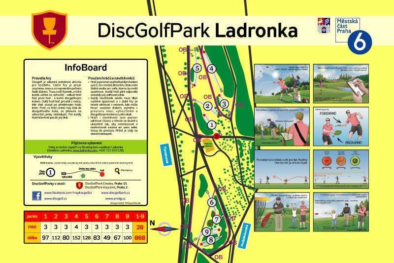 DiscGolfové hřiště Praha Ladronka